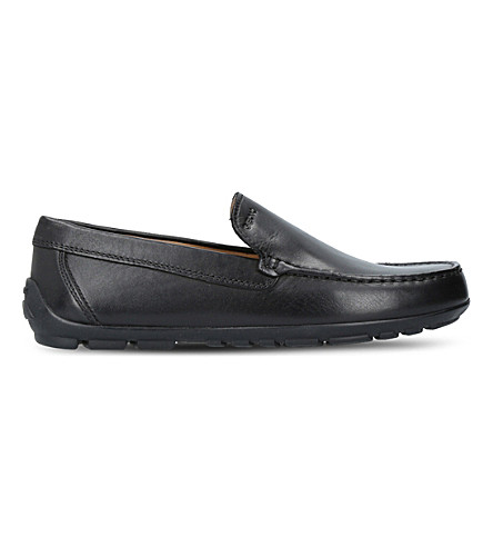 GEOX Fast leather loafers 9 - 12 years (Black