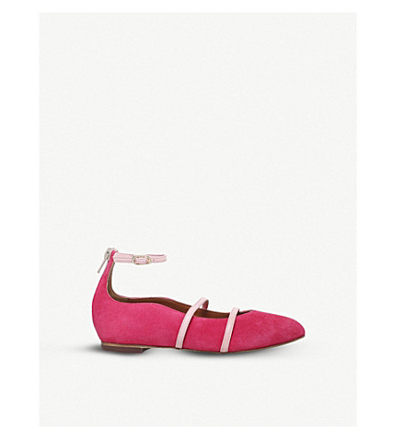 MALONE SOULIERS Robyn suede flats (Pink