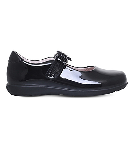 LELLI KELLY Love patent-leather dolly shoes (Black