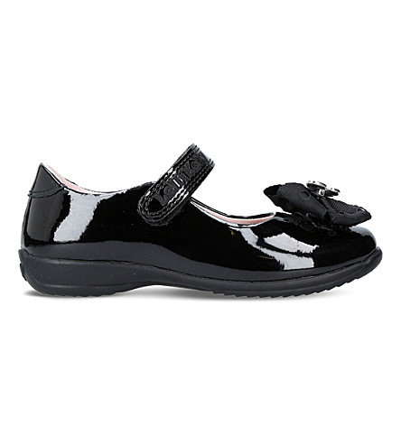 LELLI KELLY Tallulah patent leather embellished school shoes (Black