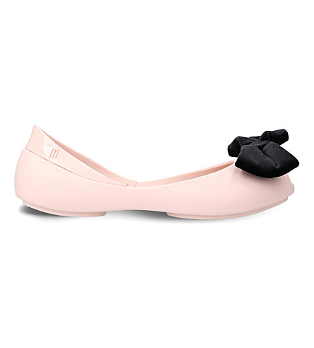MINI MELISSA Queen bow-detail ballet shoes 6-9 years (Nude