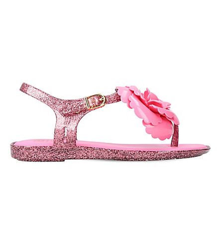 MINI MELISSA Solar floral-detail sandals 6-9 years (Pink