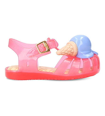 MINI MELISSA Mini Aranha ice cream jelly flats 1-7 years (Pink+comb