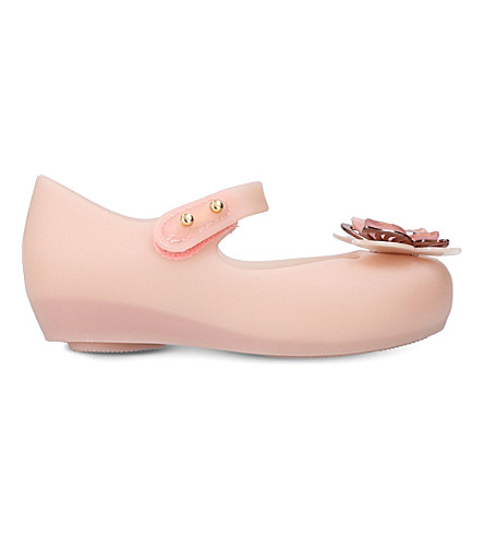 MINI MELISSA Ultragirl butterfly flats 1-7 years (Nude