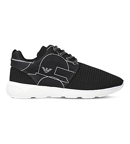 ARMANI Arthur mesh trainers 8-12 years (Black
