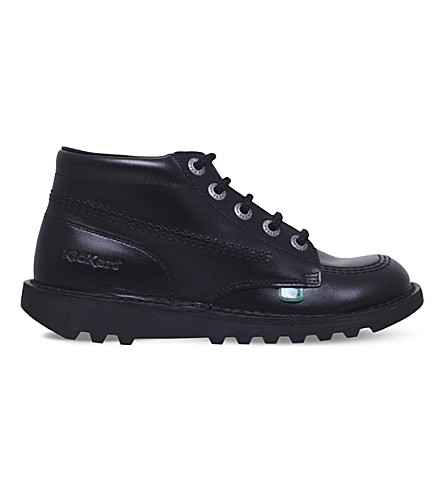 KICKERS Kick hi leather boots (Black