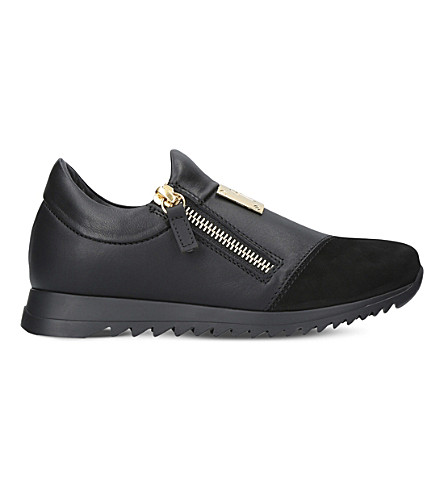 GIUSEPPE ZANOTTI Runner leather trainers 4-8 years (Black