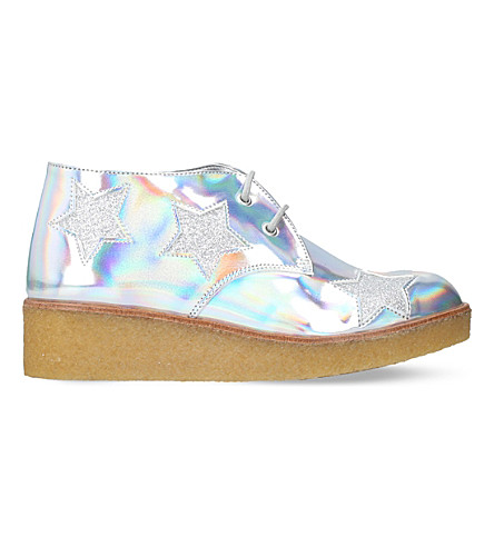 STELLA MCCARTNEY Holographic Wendy wedge boots 6-11 years (Silver