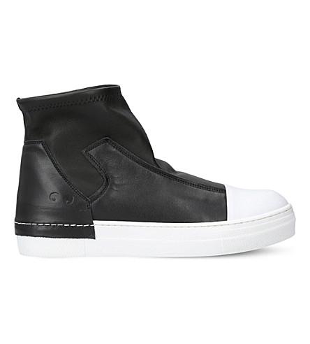 MISSOURI Rick O leather boots 6-9 years (Black