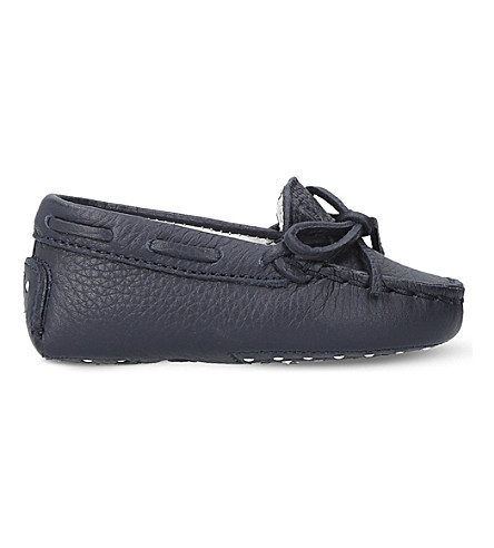 TODS Gommini leather driving shoes 0-12 months (Navy