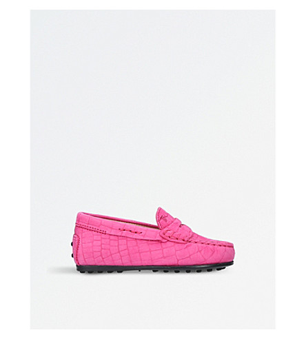 TODS Moccasin nuovo city gommino shoes (Pink