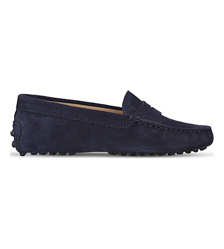 TODS Gommini suede driving shoes 6-9 years (Navy