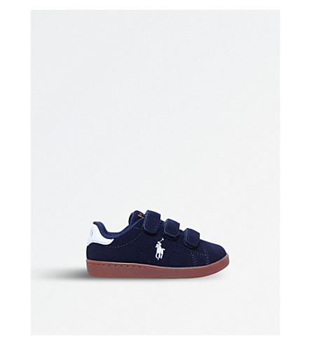 POLO RALPH LAUREN Quincey Court EZ suede trainers 1-4 years (Navy