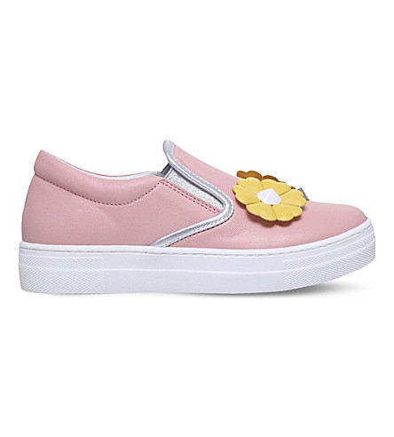 FENDI Flower Stud leather trainers 3-5 years (Pale+pink