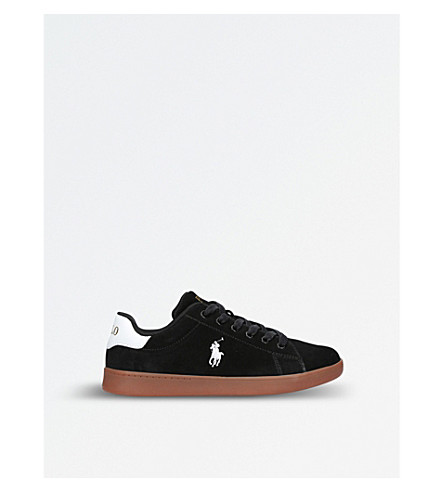 POLO RALPH LAUREN Quincey court suede trainers 8-12 years (Black
