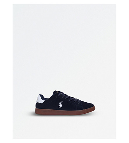 POLO RALPH LAUREN Quincey court suede trainers 8-12 years (Navy