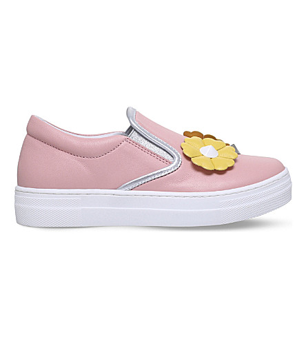 FENDI Flower Stud leather trainers 6-9 years (Pale+pink