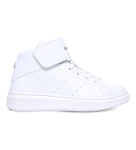 MONCLER Aymeric leather high-top trainers 6-11 years (White