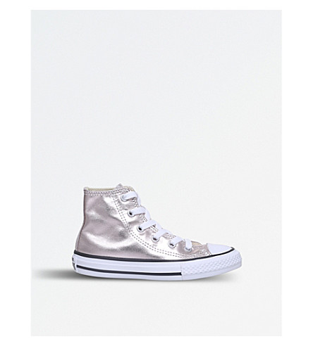 CONVERSE Chuck Taylor metallic high-top trainers 6-9 years (Bronze