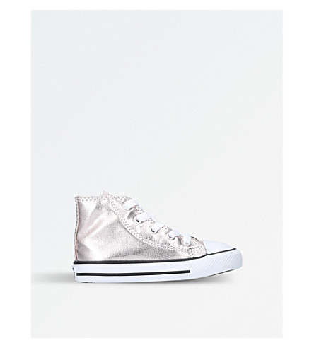 CONVERSE Chuck Taylor All Star metallic canvas high-top trainers 1-4 years (Bronze