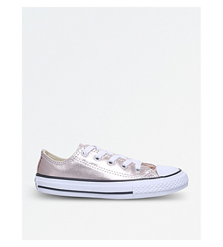 CONVERSE Chuck Taylor metallic low-top trainers 6-9 years (Bronze
