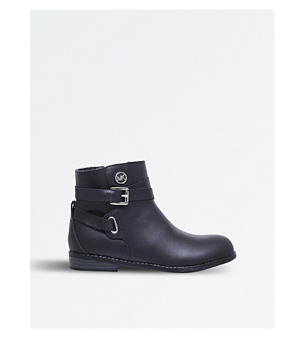 MICHAEL MICHAEL KORS Zia-Emma Kane leather boots 6-8 years (Black