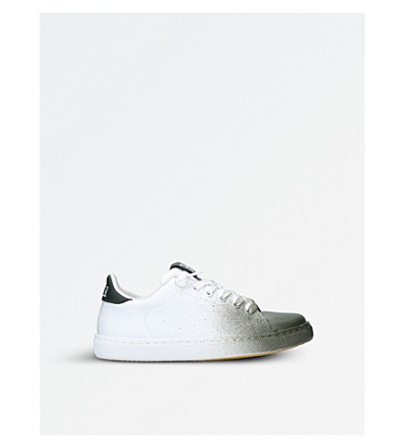 2 STAR Bobby Toe Dip leather trainers (White/oth