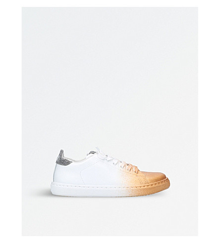 2 STAR Bobby Toe Dip leather trainers (Gold+comb