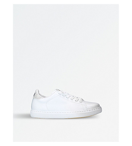2 STAR Bobby Toe Dip leather trainers (White