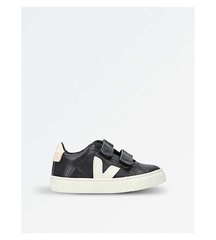 VEJA Esplar low-top leather trainers 2-5 years (Black