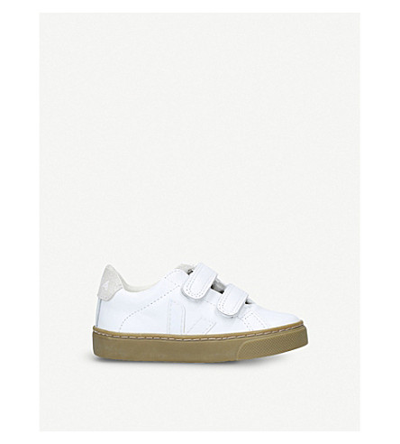 VEJA Esplar logo leather trainers 2-5 years (White