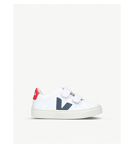 VEJA Esplar leather trainers 2-5 years (White/red