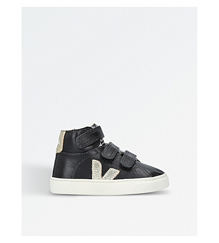 VEJA Esplar leather trainers 2.5-5 years (Black