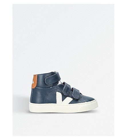 VEJA Esplar leather high-top trainers 2-5 years (Navy