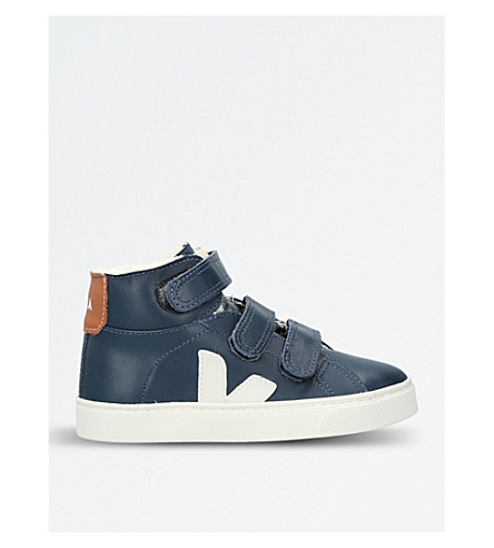 VEJA Esplar leather high-top trainers (Navy