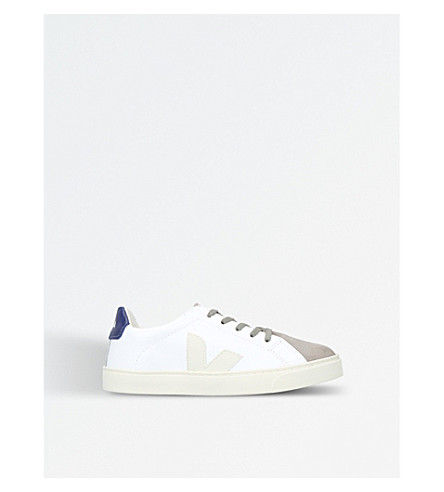 VEJA Esplar leather and suede trainers (White/oth