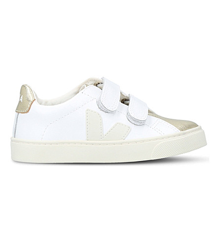 VEJA Esplar leather trainers 6-9 years (White/comb