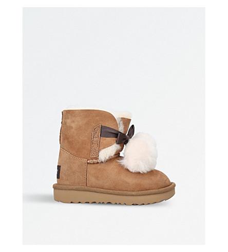 UGG Gita pom pom sheepskin boots 3-7 years (Brown
