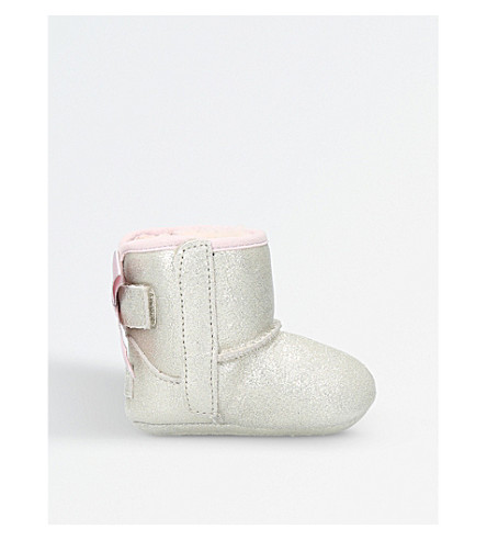 UGG Jesse bow metallic suede boots (Gold