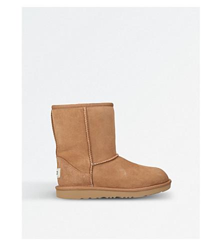 短羊皮靴 (棕色