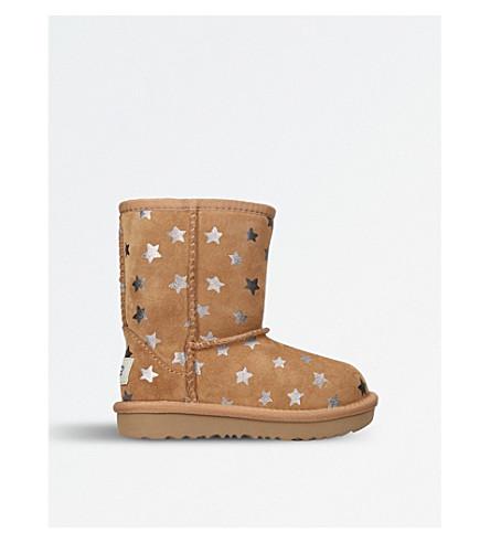 UGG Classic Short II star-print sheepskin boots (Brown