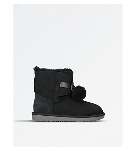 UGG Gita pom pom sheepskin boots (Black
