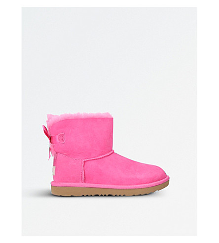 UGG Mini Bailey Bow II sheepskin boots (Pink