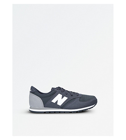 NEW BALANCE 420 suede and mesh trainers 6-10 years (Grey/other