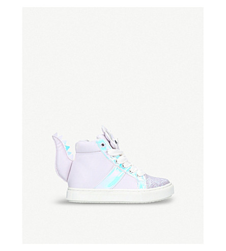 MINI MISS KG Delilah high-top trainers 7-11 years (Lilac