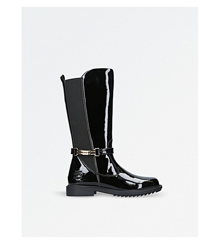 LELLI KELLY Diletta patent leather knee-high boots 6-10 years (Black