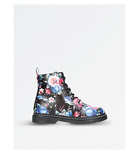 LELLI KELLY Giselle floral-print boots 6-10 years (Blk/other