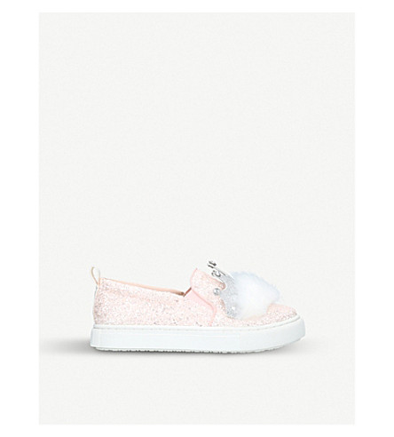 MINI MISS KG Kingdom glitter trainers 7-10 years (Pale+pink