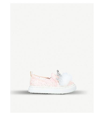 MINI MISS KG Kingdom glitter trainers sizes 3-6.5 years (Pale+pink