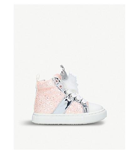 MINI MISS KG Princess high top trainers (Pale+pink